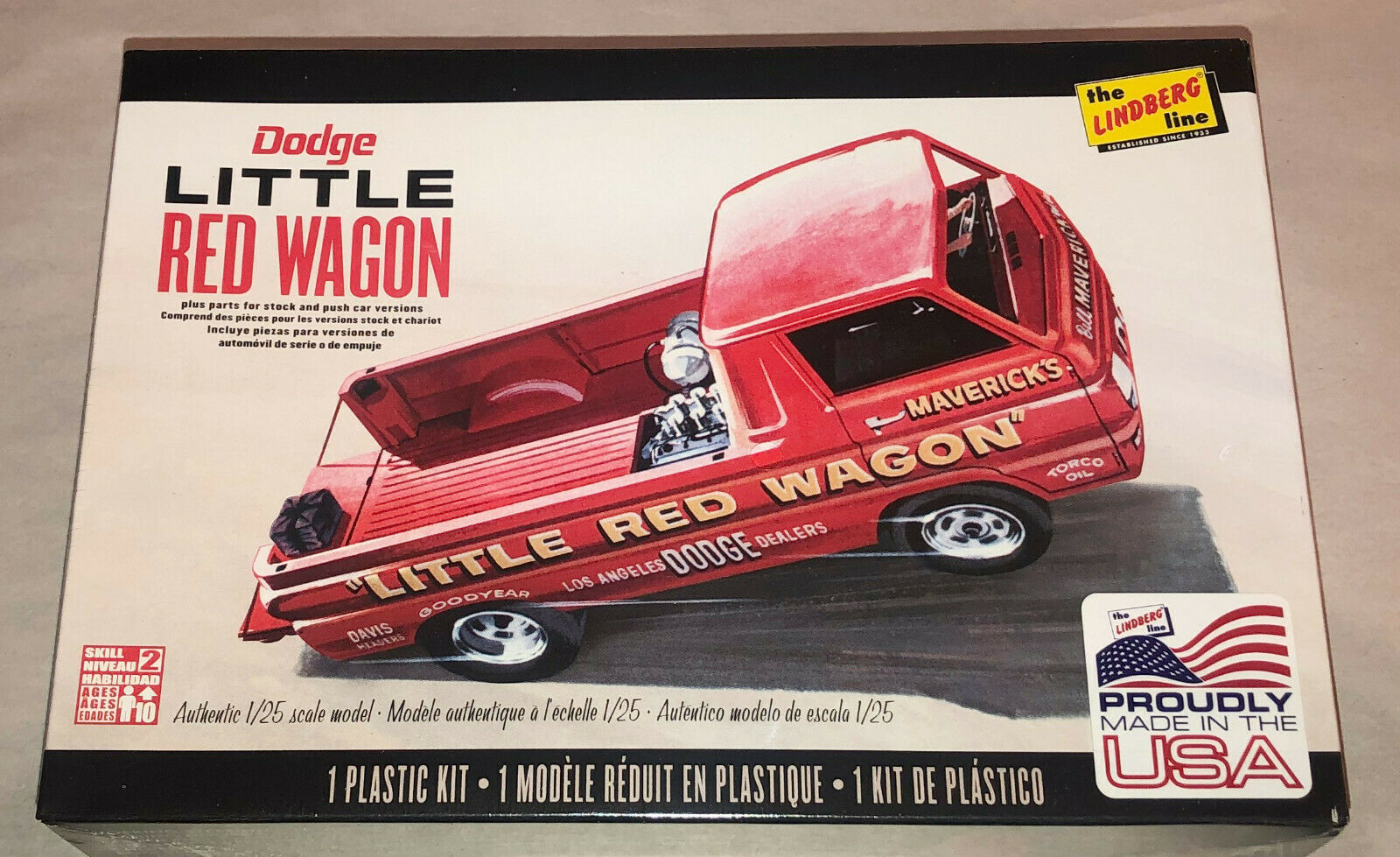 Lindberg Little Red Wagon Drag Racing Team 1 25 Model Car Mountain Fs For Sale Online Ebay