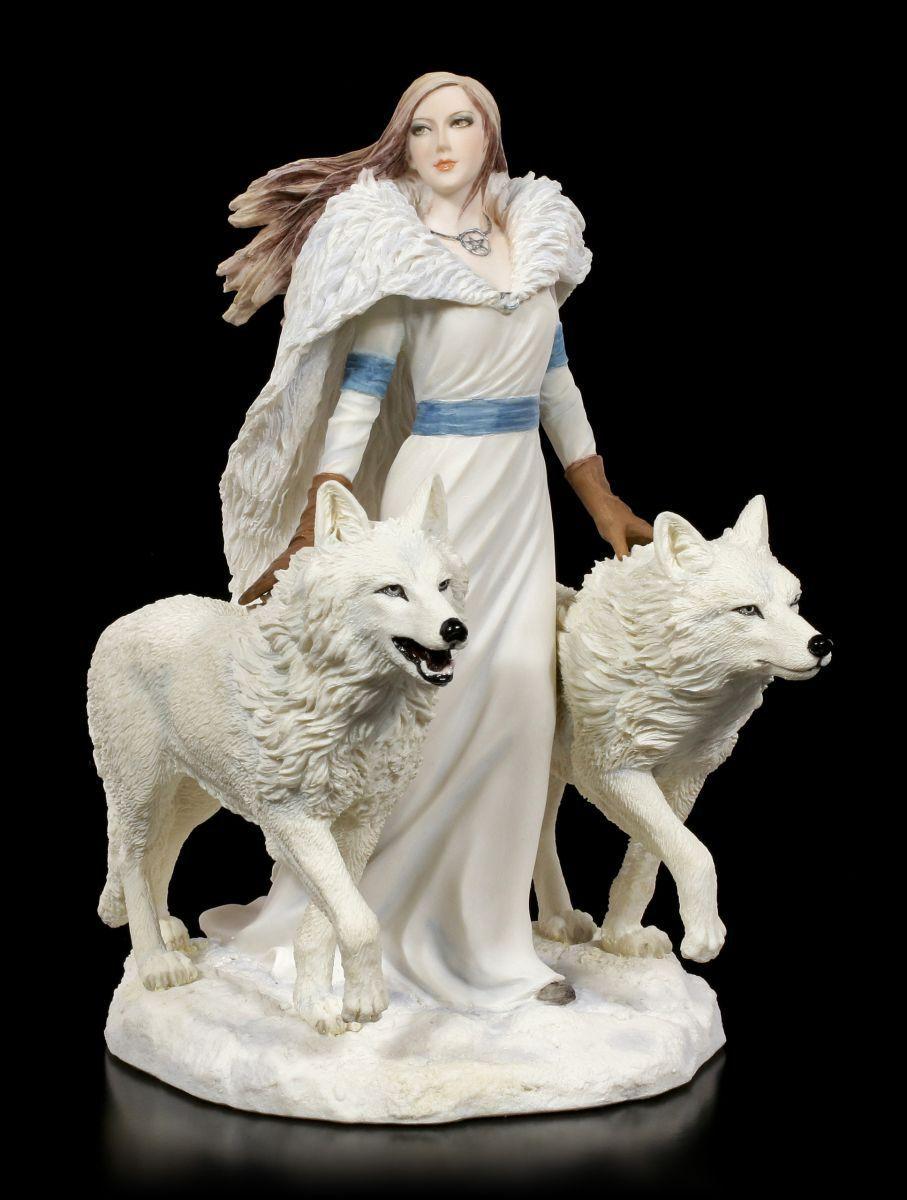 Figurine Loup Wächter - Hiver Gardiens By Anne Stokes - Fantasy Gothique Déco