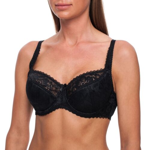 Half Padded Ladies Bra Comfort Underwired Plus Size Minimiser Full Support Cup