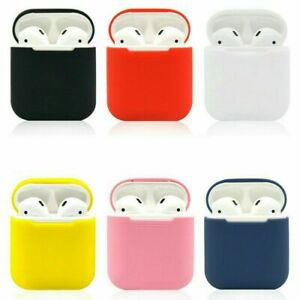 Silicone AirPods Protective Case Airpods Headset Sleeve Shockproof Box Cover New
