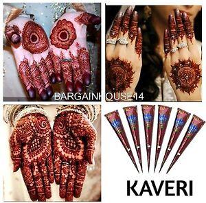 Best Quality Fresh Kaveri Natural Henna Mehndi Tattoo Cone Darkest