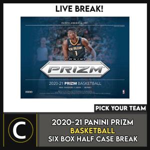 2020-21 PANINI PRIZM BASKETBALL 6 BOX (HALF CASE) BREAK #B591 - PICK YOUR TEAM