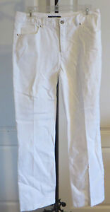Womens-Tahari-White-Straight-Leg-Denim-Jeans-Size-6