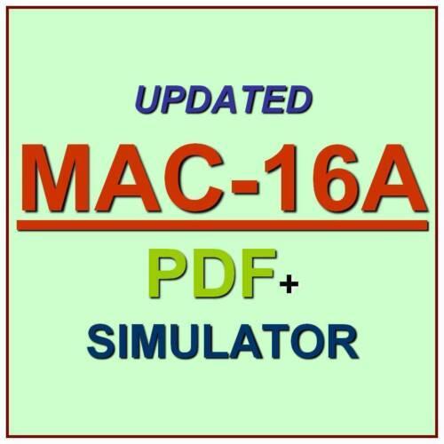 Apple ACMT 2016 MAC Service Certification Exam MAC-16A Test QA PDF+Simulator