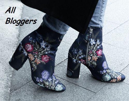 BNWB Zara Azul Bordado Tobillo botas UK 37 EU 6.5 US