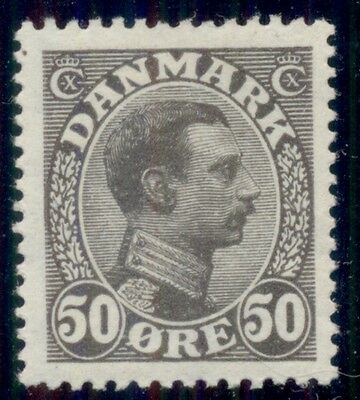 DENMARK #122a (155a) 50ore dark gray Chr. X, og, LH, XF, Scott $75.00