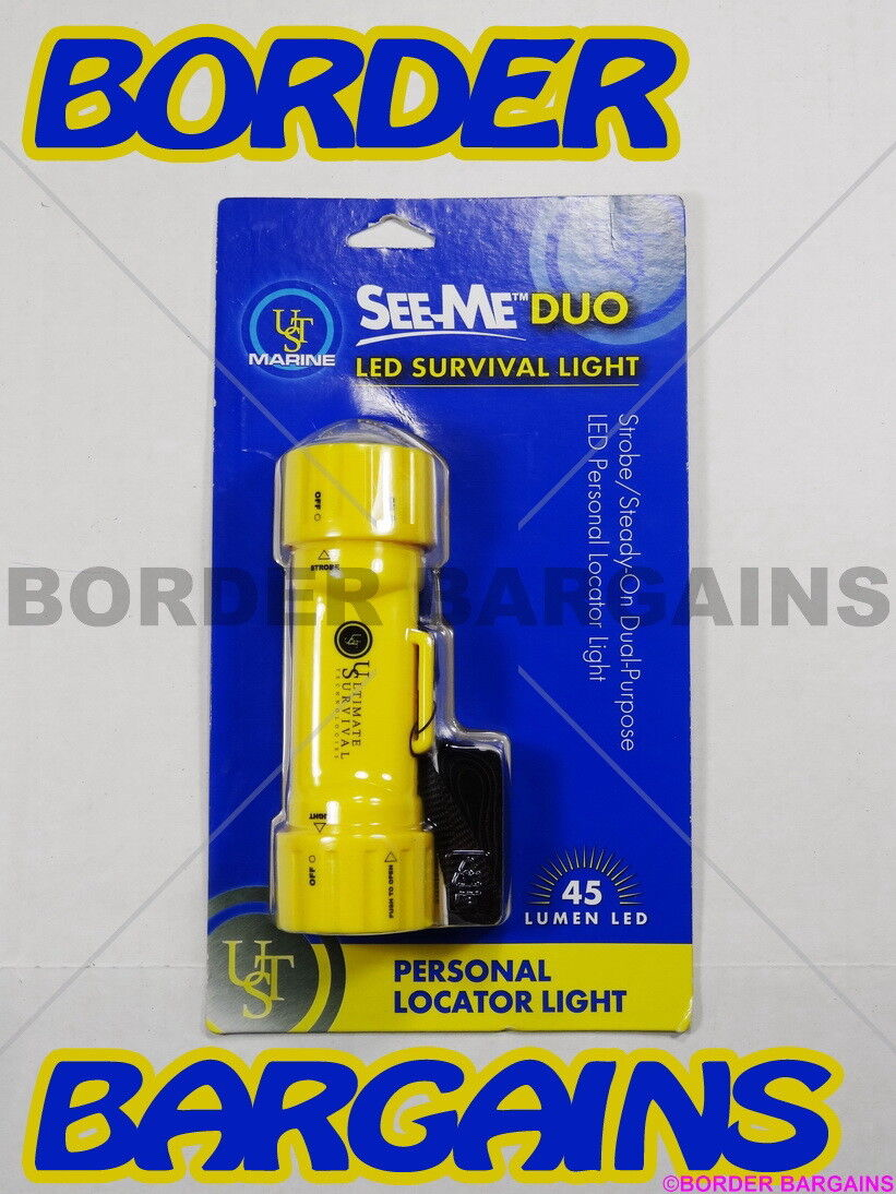 FREE FAST SHIPPING  BRAND NEW  UST Marine See-Me Duo LED SURVIVAL Light BE SEEN