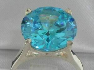 STUNNING-SOLID-925-SILVER-SYNTHETIC-PARAIBA-TOURMALINE-TALL-RING