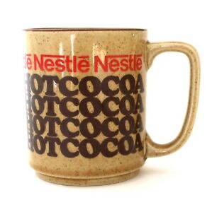Nestle Hot Rich n Creamy Cocoa Ceramic Advertising Mug Vintage Japan Collectible