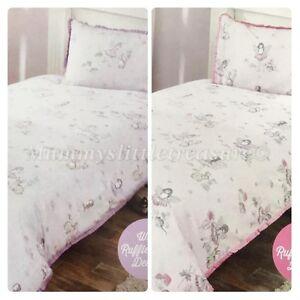Bambini-Bimbi-FATE-FATA-Singolo-Set-Copripiumino-COVET-camera-da-letto-con-arricciatura-sul-bordo