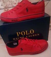 GENUINE Polo Ralph Lauren Mens Great Trainers Shoes Red UK 11 EUR 45 SAVE £42