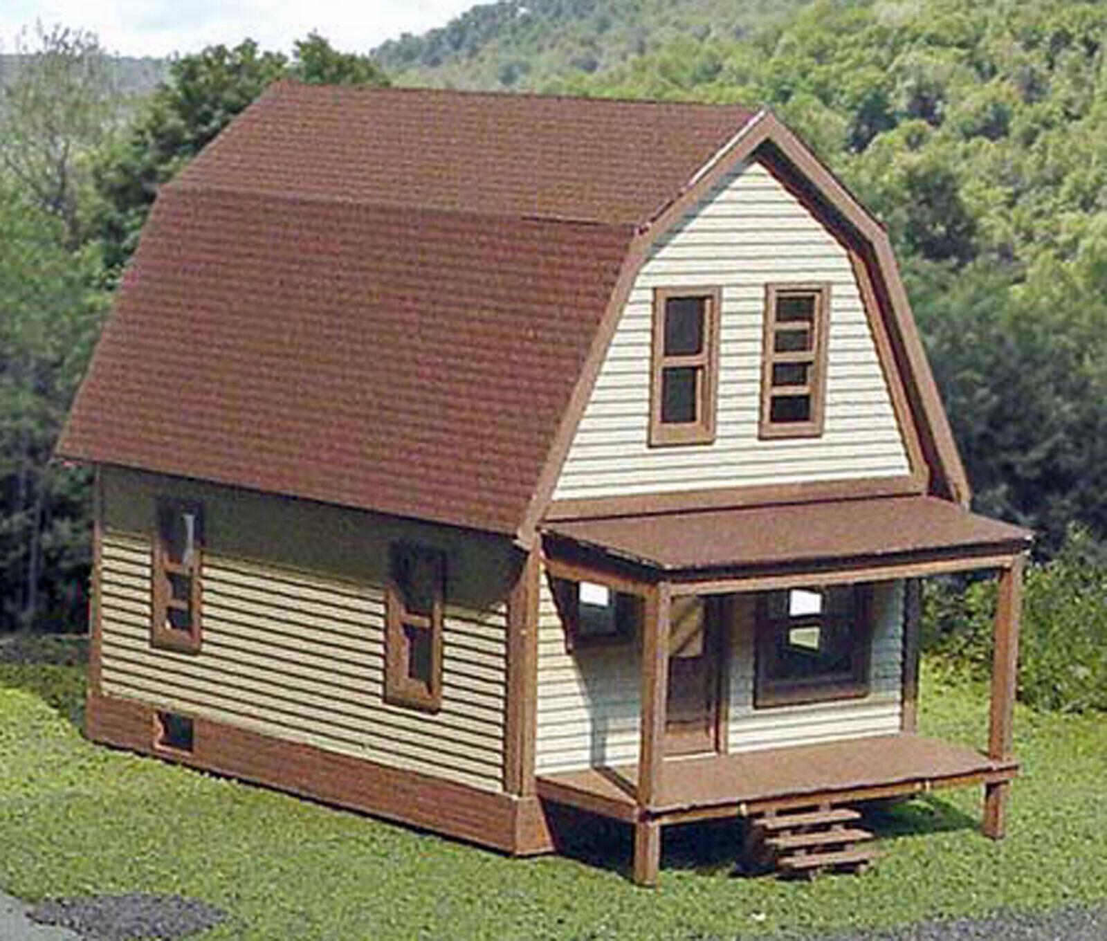 TUSCON HOUSE & GARAGE HO Model Railroad Structure Unpainted Laser Kit LA639A