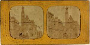 Parigi Saint-étienne-du-mont c1865 Francia Foto Stereo Diorama Vintage Albumina