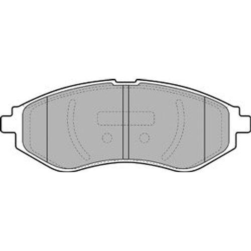 BREMSBELÄGE SET VORNE CHEVROLET AVEO KALOS 1.4 16V DELPHI BREMSSCHEIBEN Ø236mm