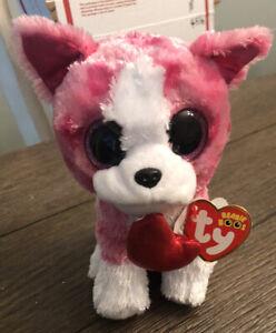 ty beanie babies ROMEO PINK Red Heart Valentine Cutie Plush