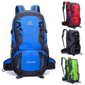 40L Men Women Waterproof Nylon Outdoor Backpack Sport Hiking Travel ... b1ac1a5683002