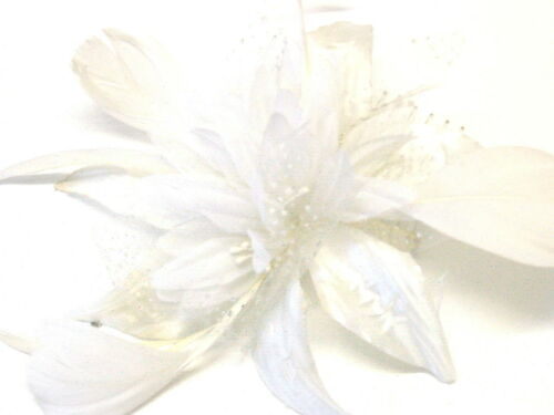 Gorgeous Hair Flower Wedding Flower Fascinator On Comb Flower Size 12 cm Ivory