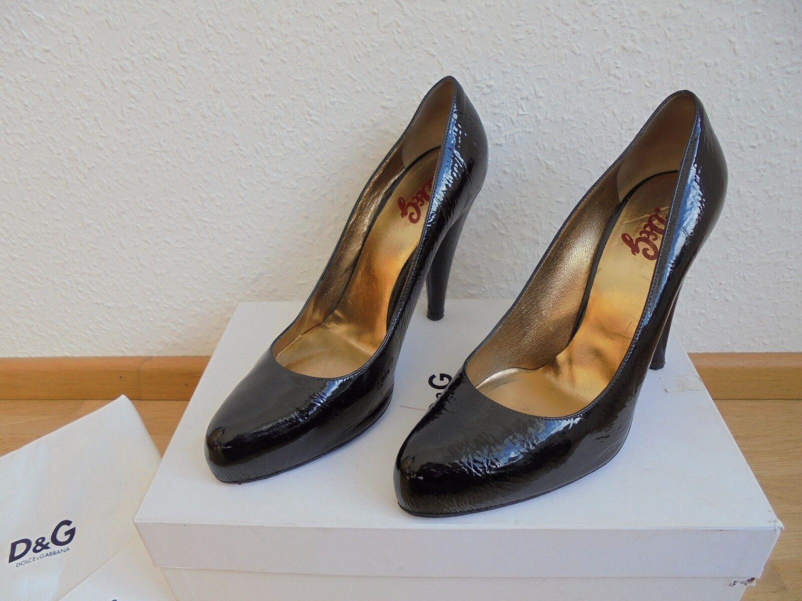 Dolce&Gabbana D&G Lackleder Plateau High Heels NP:  + OVP D&G Dolce&Gabbana Schuhe 39 39,5 40 dd092b