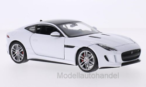 NEW * JAGUAR F-Type Coupe Bianco//Nero 1:24 Welly
