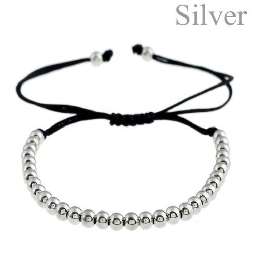 Frauen Männer Kupfer Perlen Armband geflochten Wristband gewebt Armreifen neu