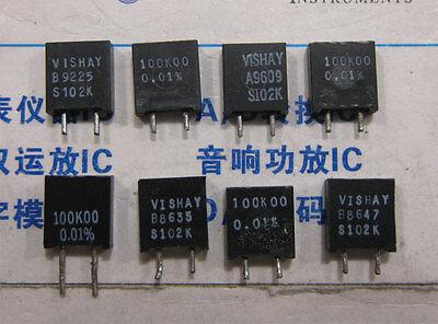 ±0.1/% error 1x 100K00 Vishay S102K Series Metal Foil Resistors 0.01/% 100KΩ