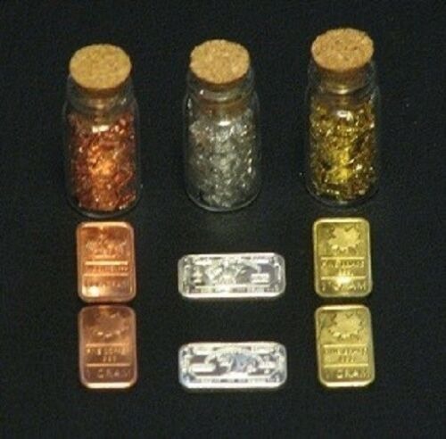 Bars /& Flakes Gold,Silver,Copper,Brass