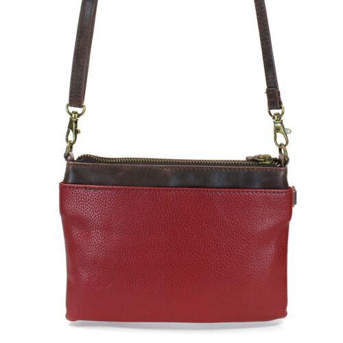 New Chala Mini Crossbody PAW Print WOOF Bag Pleather Small Purse Convertible Red