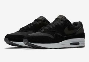 eb11d0e0e1f68 NIKE AIR MAX 1 AH8145 006 BLACK/PURE PLATINUM GREY/REFLECTIVE HEEL ...