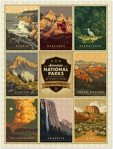 Americanflat 500 Piece Jigsaw Puzzle Adults Kids Puzzle Game National Parks 4