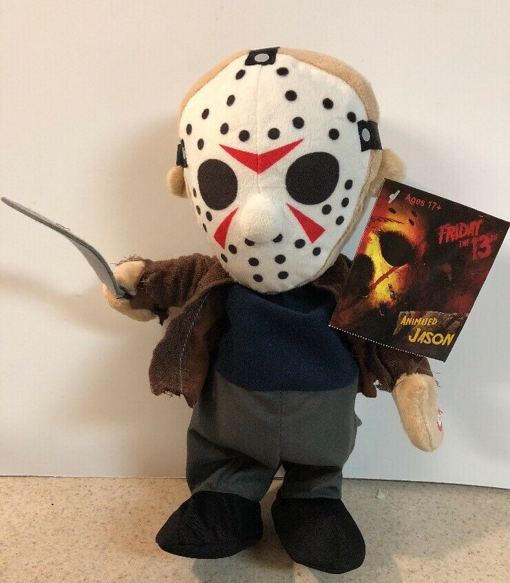 FRIDAY THE 13TH JASON VOORHEES ANIMATED Halloween Scary FIGURE BY BY BY Magic Power Co 6117e6