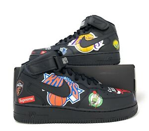 Nike-Air-Force-1-Mid-039-07-Supreme-NBA-Basketball-Shoes-Size-10-5-Black-AQ8017-001