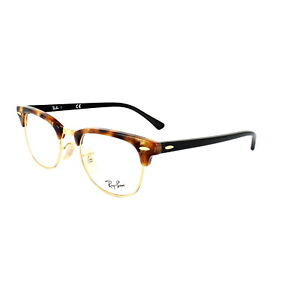 4063dd60e77 Ray-Ban Glasses Frames 5154 Clubmaster 5494 Fleck Brown Havana 49mm ...