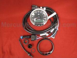 Mercury SmartCraft SC1000 Speedometer 80 mph Black P/N# Boat Parts