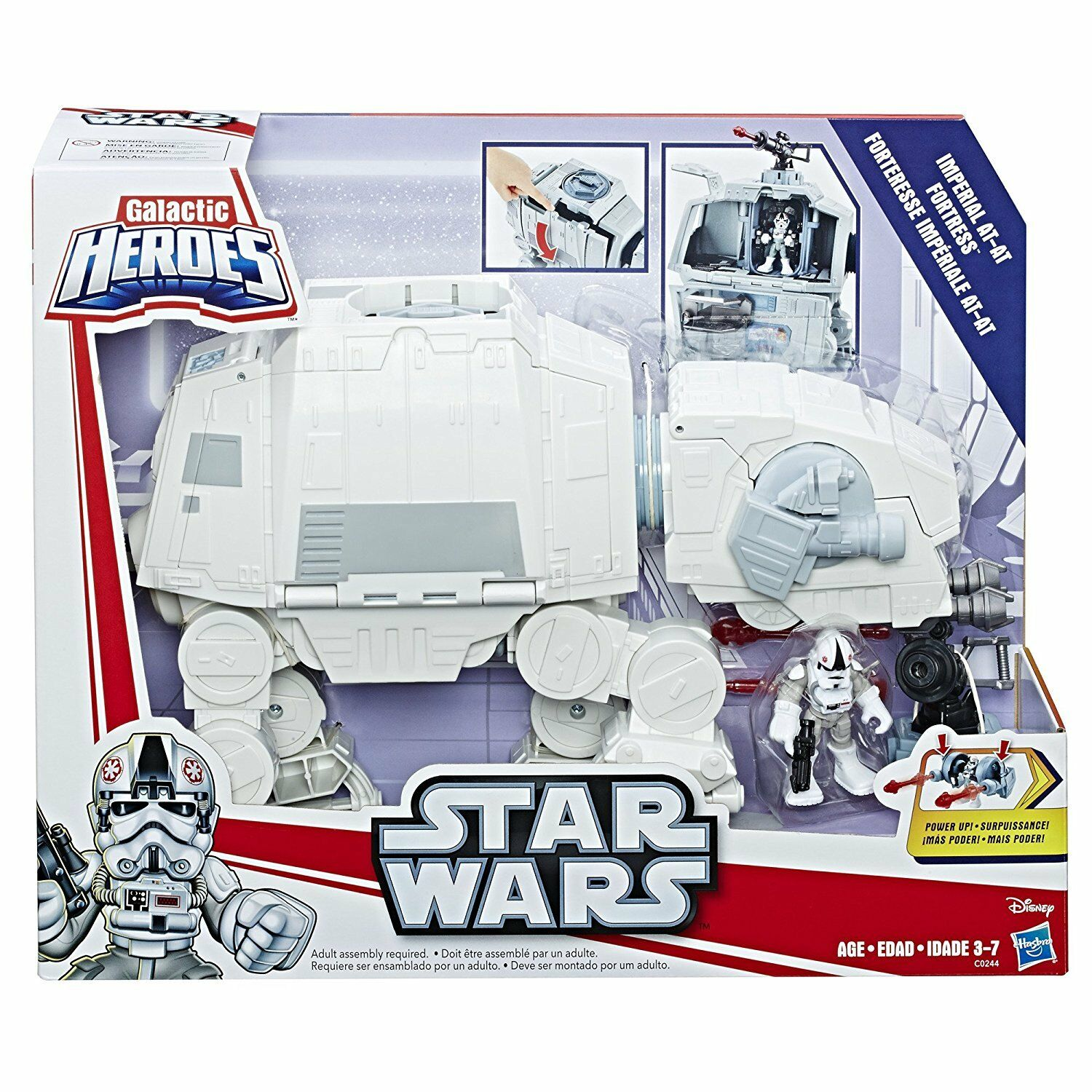 Playskool Star Wars Galactic Heroes Last Jedi Imperial AT-AT Fortress Hoth Snow