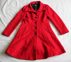 Rouge État Femme Manteau Ashley Femme Laura Taille Bon Utilisé 10 Manteau xXZZW7Oz