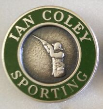 IAN COLEY SPORTING Enamel Lapel Pin Badge SHOOTING
