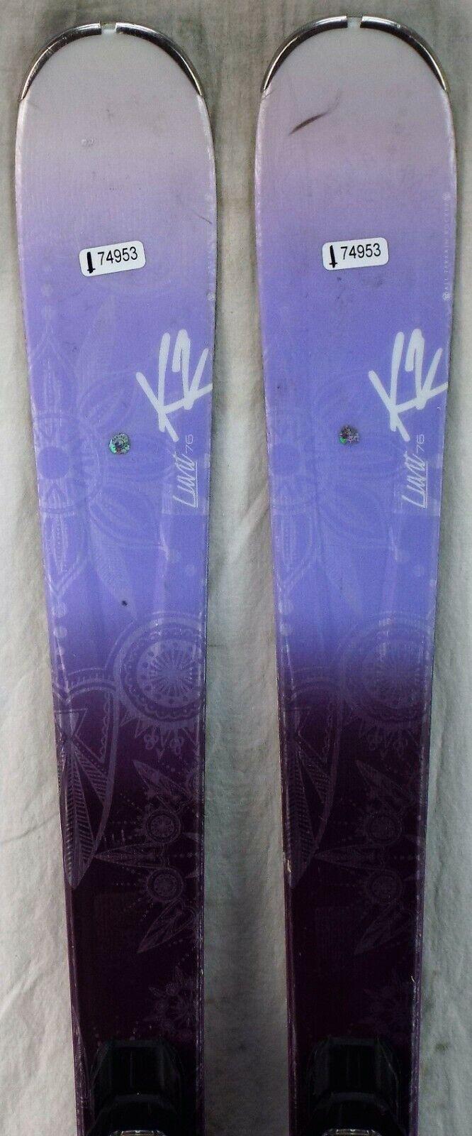 15-16 K2 LUVit 76 Gebruikte Womannen's Demo Skis w Binngs afmeting 149cm 35;174953