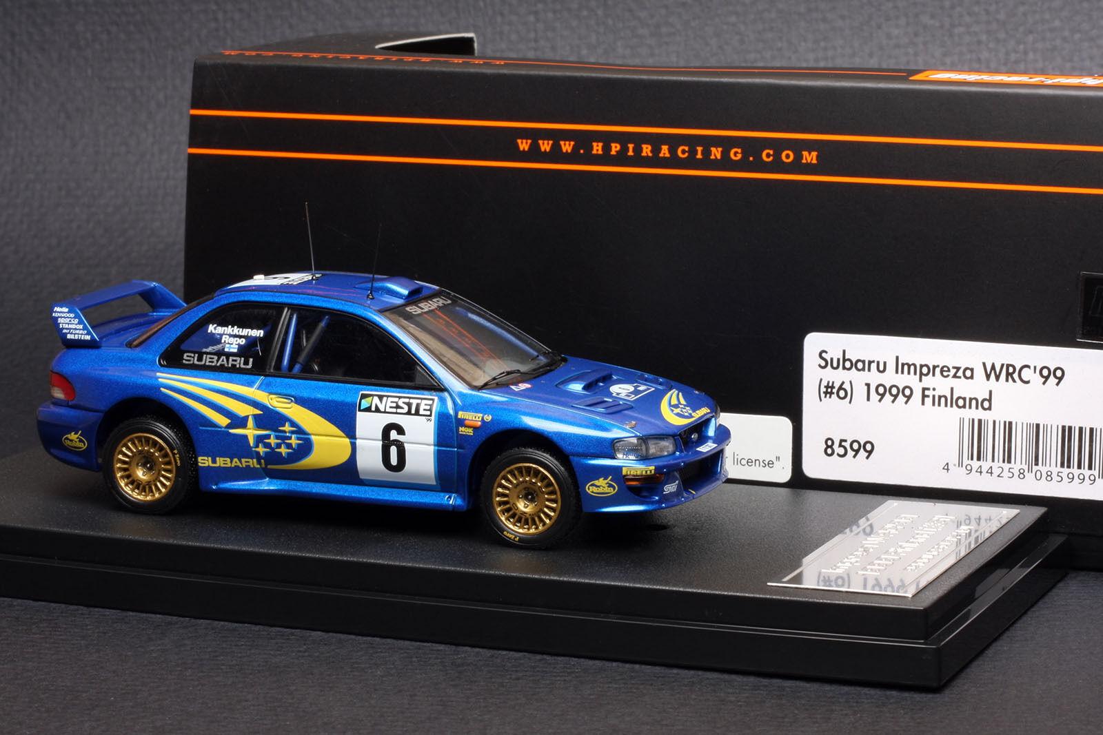 Subaru  Impreza  6 1999 Finland Rally  Juha Kankkunen  -- HPI  8599 1 43  détaillants en ligne