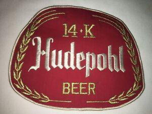 Large-Vintage-Hudepohl-14K-Beer-Uniform-Patch-Unused-Condition-NOS-Rare