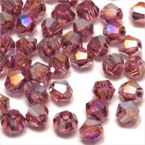 MULTICOLORE lot de 50 Perles Toupies 4mm Cristal Swarovski creation bijoux