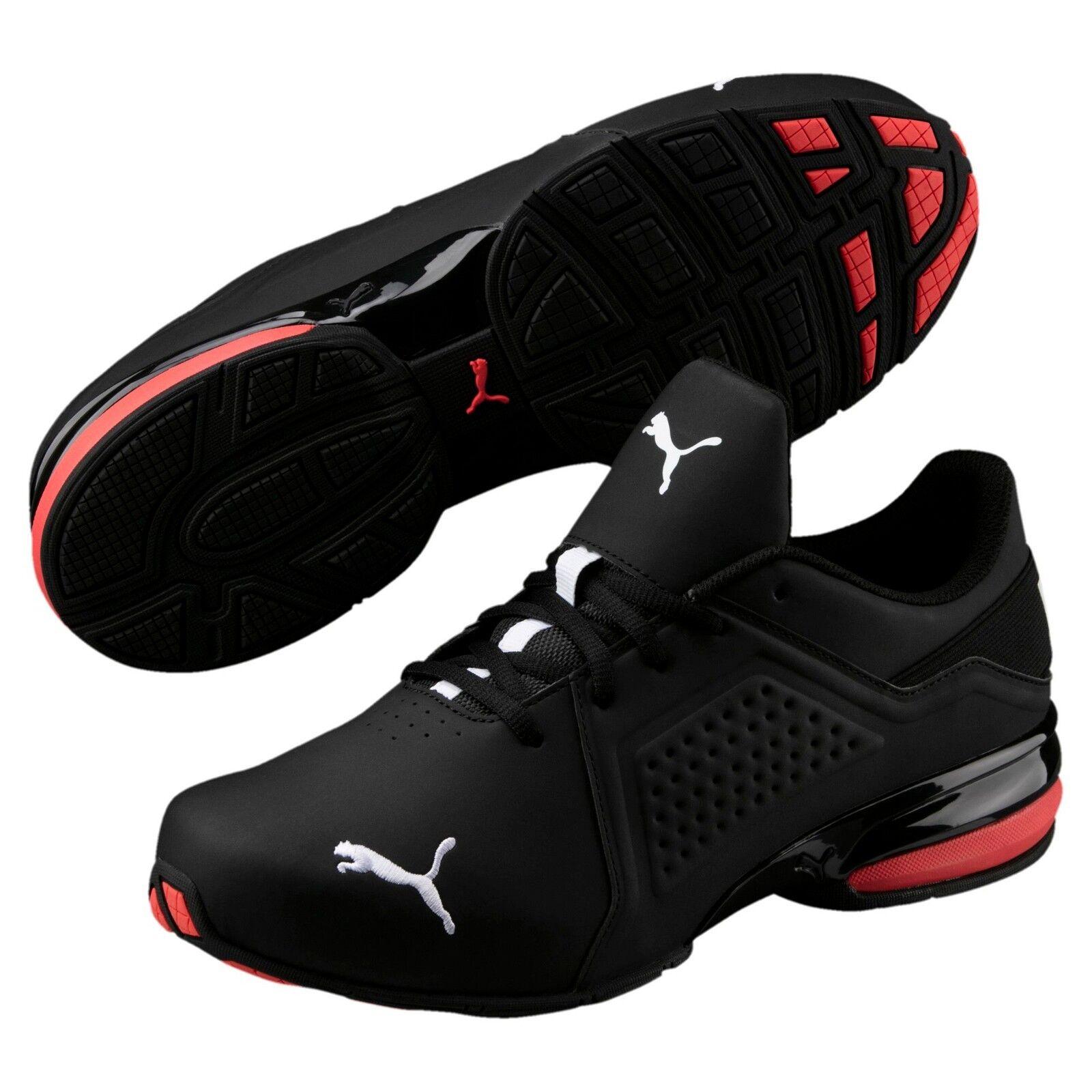 New Mens Puma Viz Runner men's running shoes black white 191037-02 NEW IN BOX