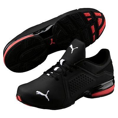 New Mens Puma Viz Runner men's running shoes black white 191037-02 ...