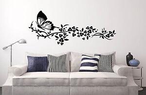 Capezzale Letto.Wall Stickers Capezzale Letto Divano Muro Fiori Farfalla 30x70