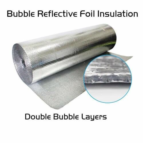 """DOUBLE FOIL REGULAR BUBBLE REFLECTIVE INSULATION WRAP 6/"""" X 125/'"""