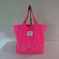 "Victoria's Secret PINK Canvas Leopard ""PINK"" Tote Beach Duffle Bag NEW"