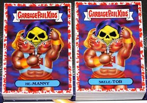 7285981d3d9 Details about 2018 GARBAGE PAIL KIDS WE HATE THE 80 S COMPLETE RED SET 180  CARDS COLLECTOR