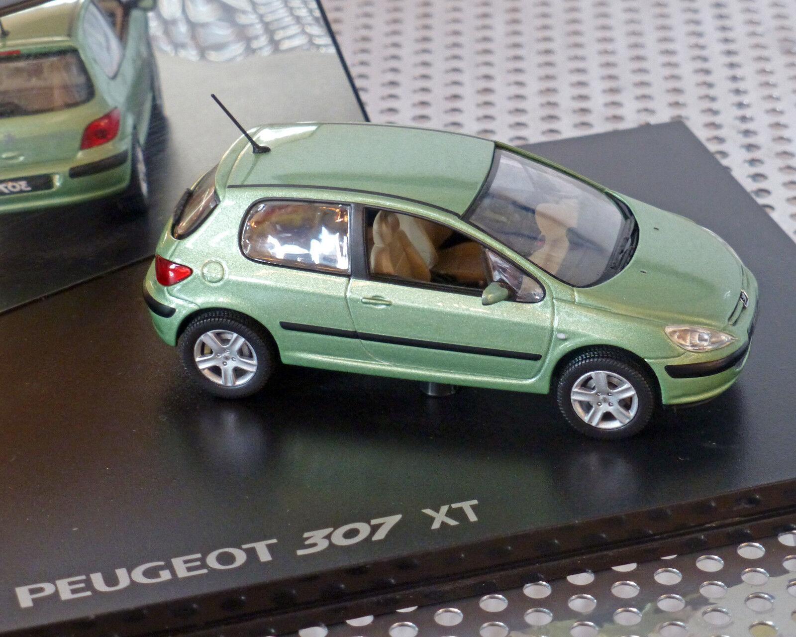 Peugeot 307 verde-metalizado, 1 43, 43, 43, norev d0c58d