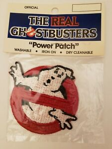 Vintage-1986-Original-The-Real-Ghostbusters-Ghost-Logo-034-Power-Patch-034-NOS