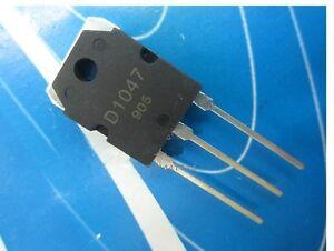 2PCS 2SD1047 D1047 PNP Transistor TO-3P NEW