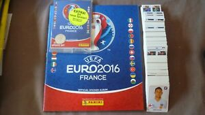 PANINI-ALBUM-BLEU-FOOTBALL-VIDE-SET-COMPLET-EURO-2016-FRANCE-UPDATE
